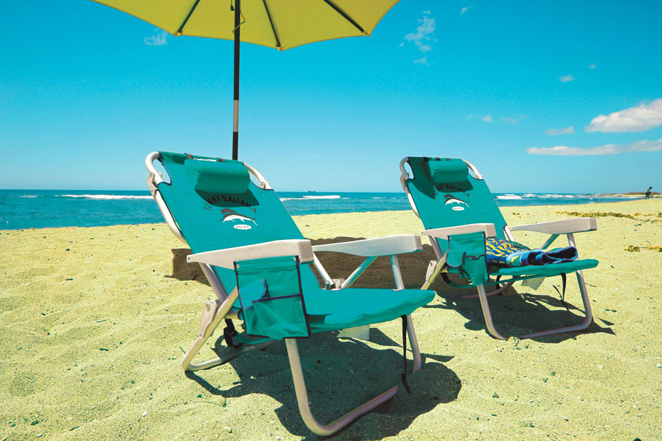 Commercial Wooden Beach Chairs - Foot Rest