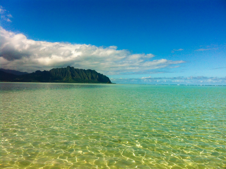 kayaking to the kaneohe sand bar